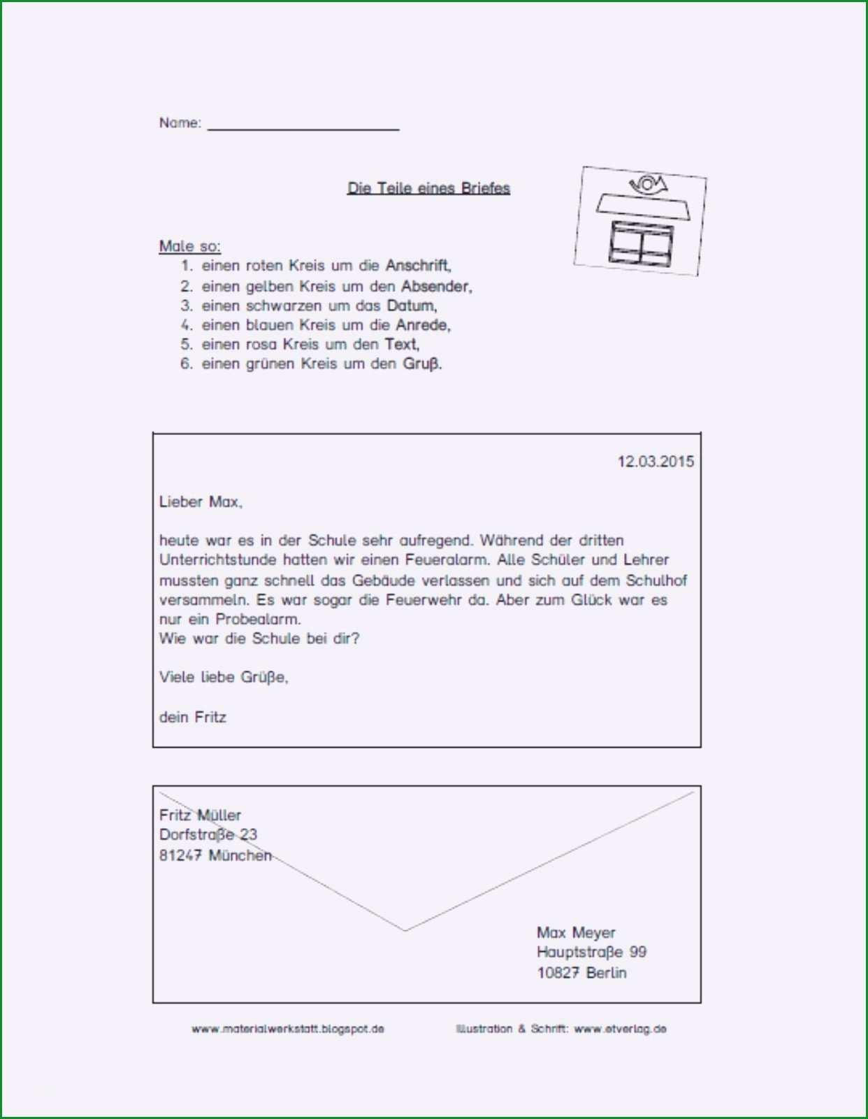 20 briefe schreiben grundschule klassenarbeit