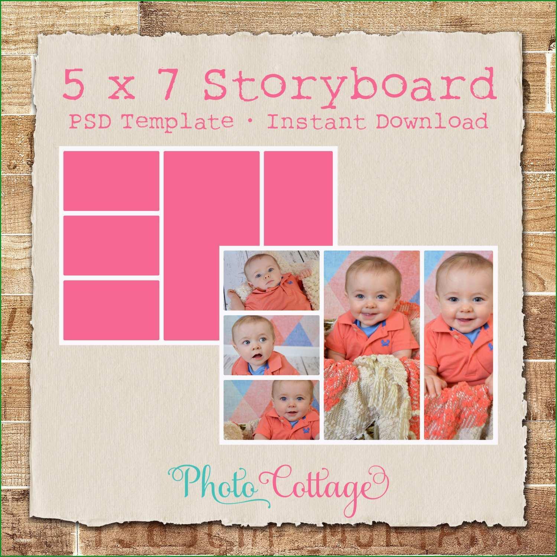 5 x 7 fotografie storyboard vorlage