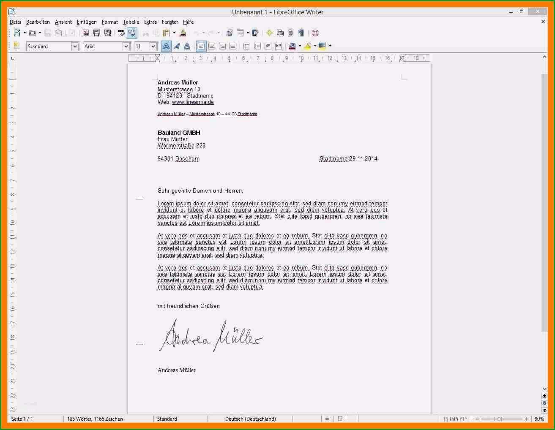 7 geschaftsbrief vorlage openoffice