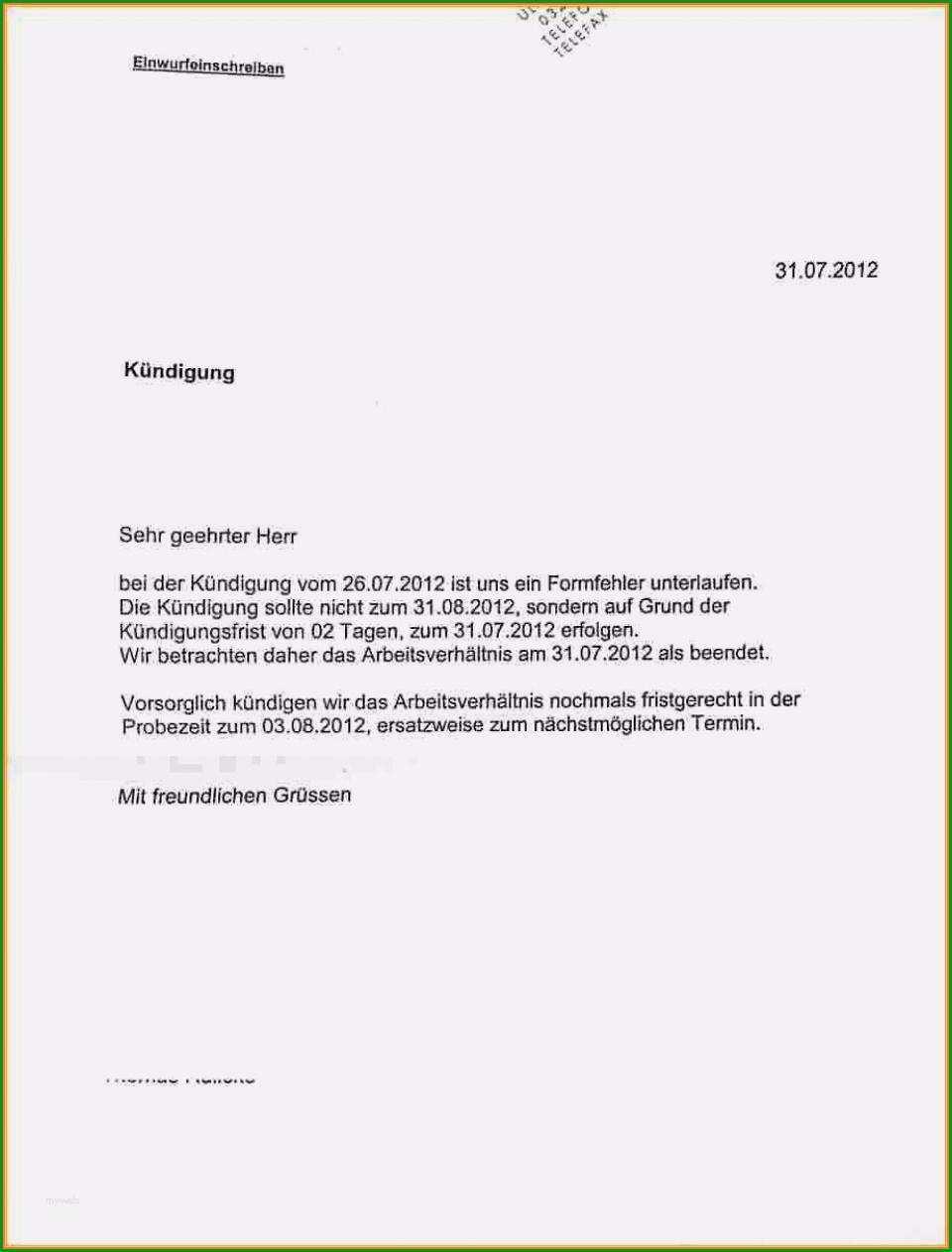 7 kundigung vorlage mietvertrag