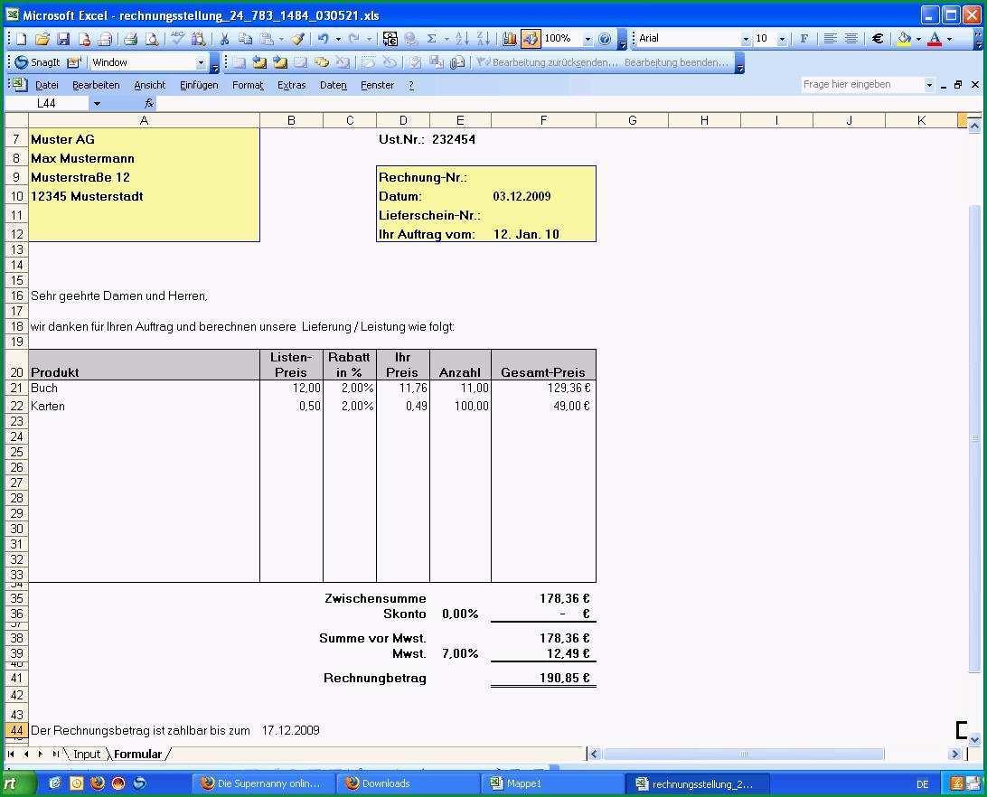 access rechnung erstellen vorlage rechnung kleingewerbe anhand von word und excel vorlage