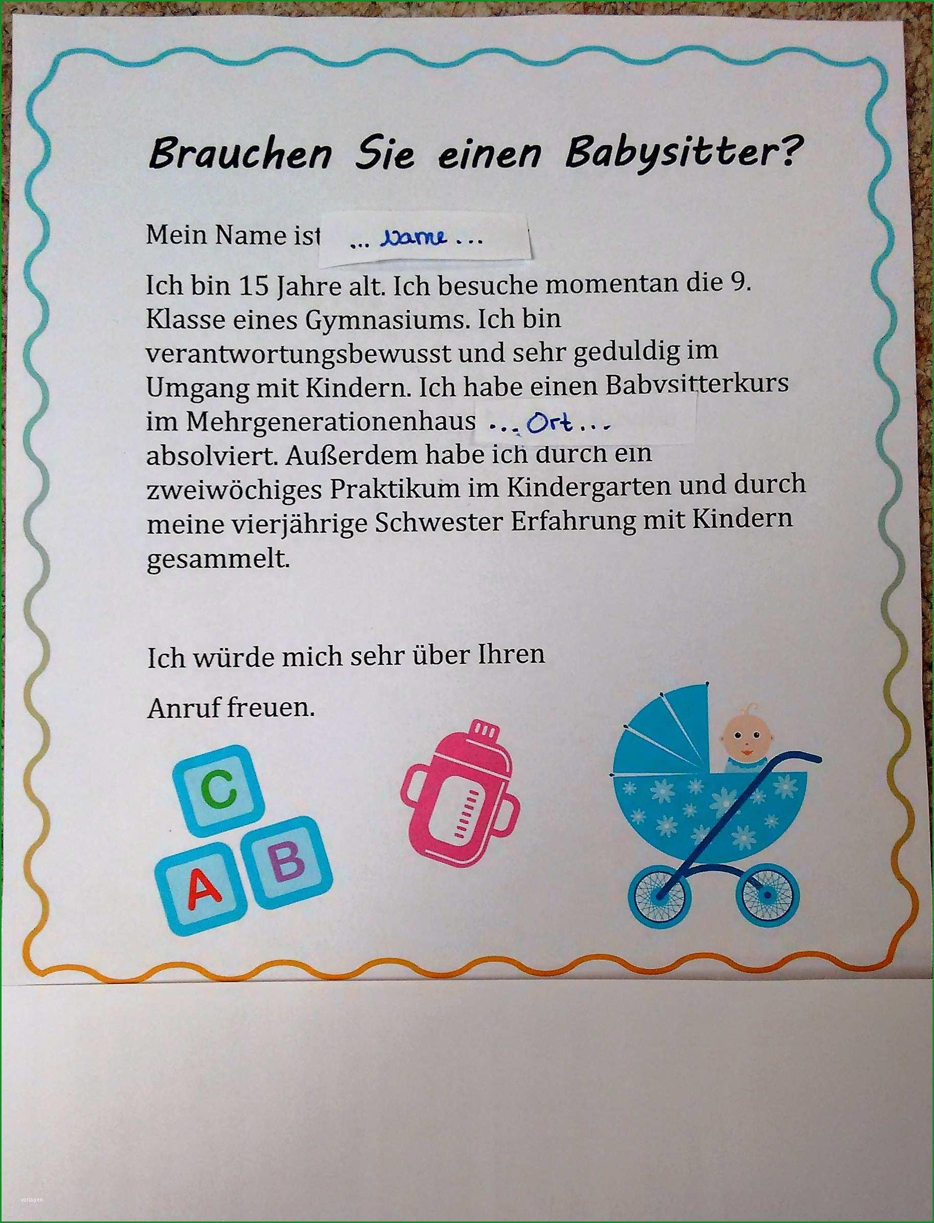 babysitter aushang wuerdet ihr anrufen