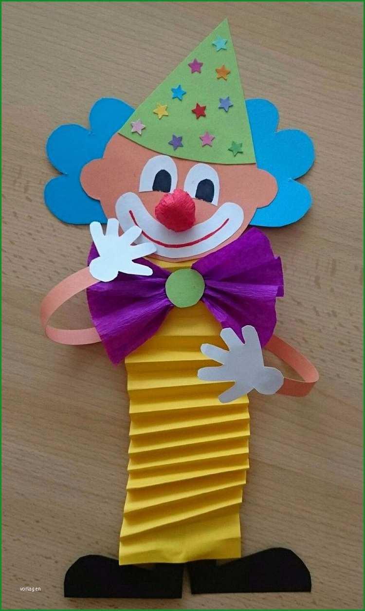 clown basteln mit kindern zu fasching vorlagen ideen und anleitungen