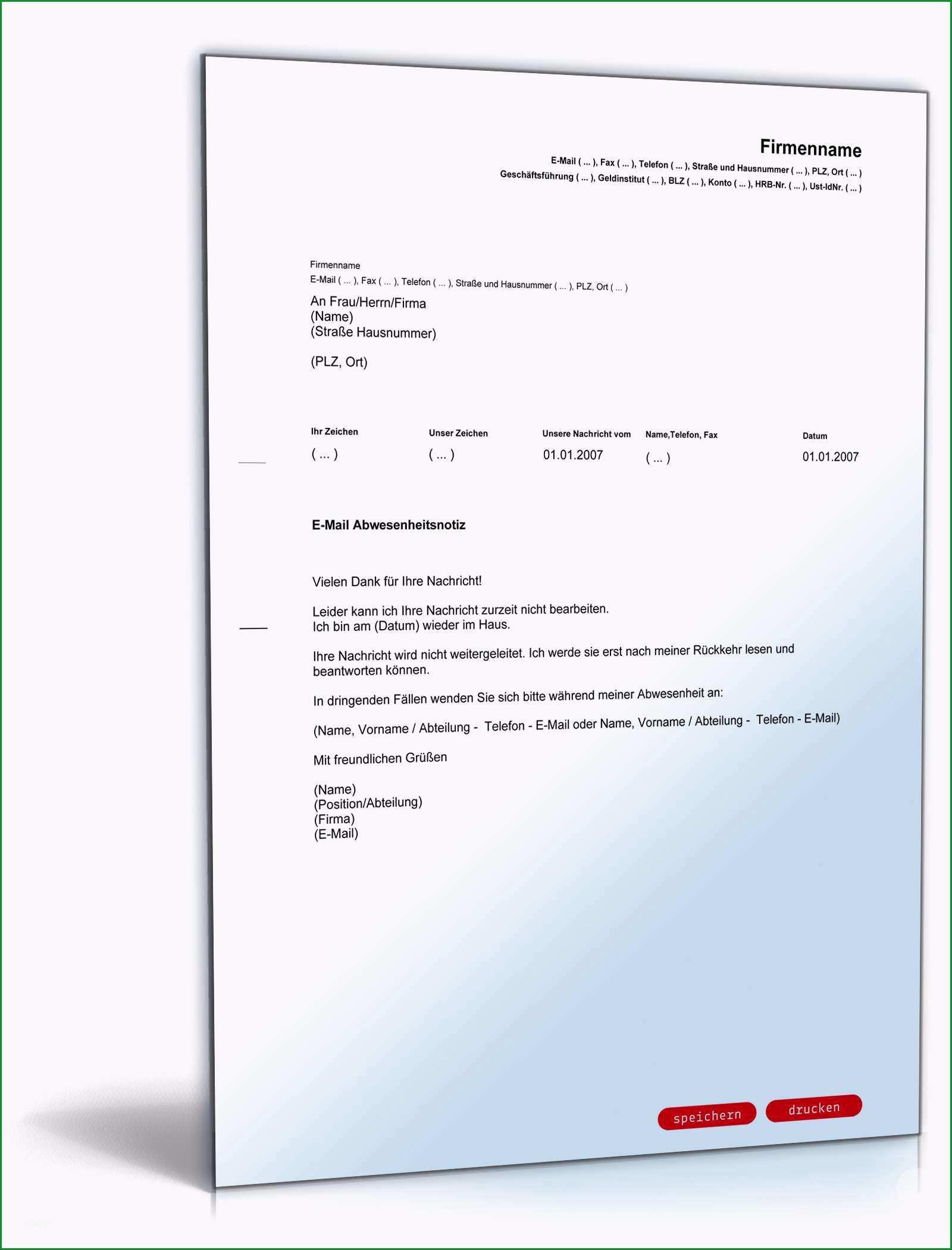 abwesenheitsnotiz email englisch deutsch