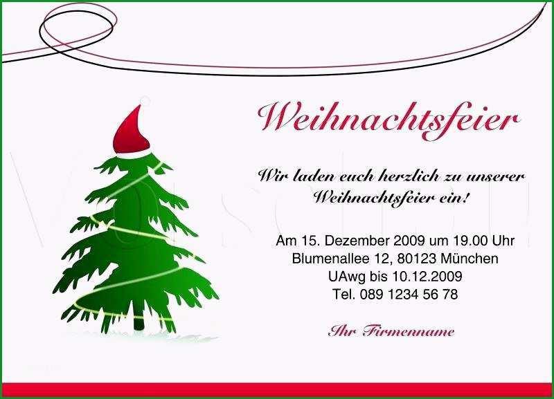 genial einladung weihnachtsfeier text