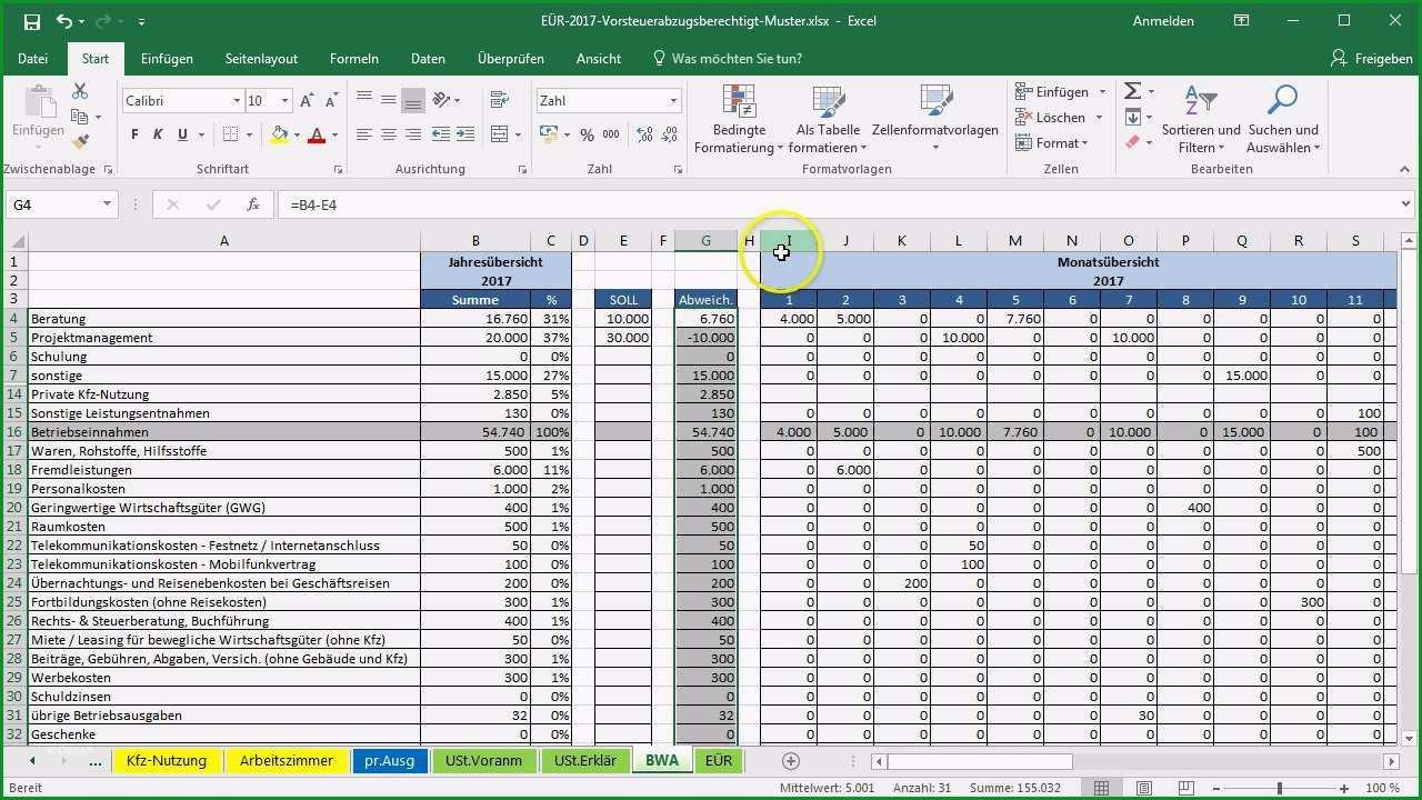 Hervorragen Excel Vorlage EÜr soll ist Vergleich Einfügen