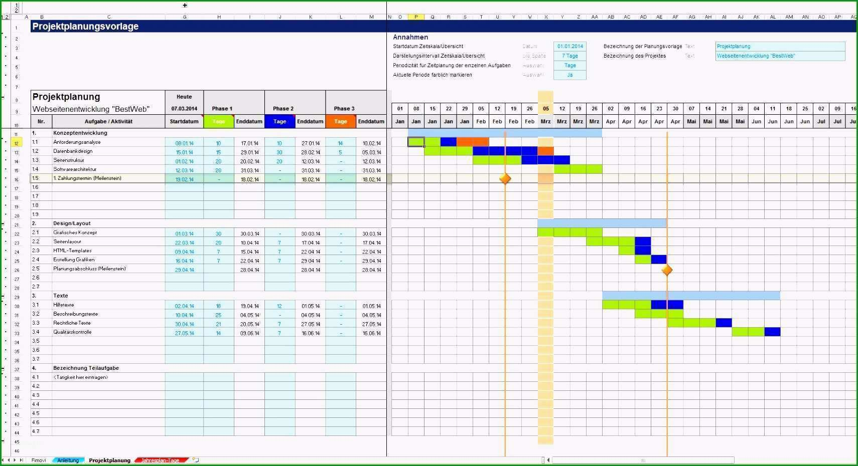 excel vorlage projektplan das beste von projektplanung mit excel und fur beste excel vorlage zeitplan