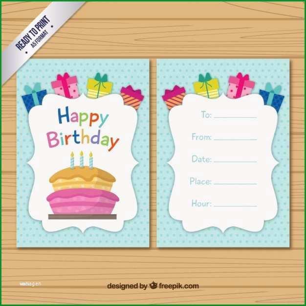Hervorragen Geburtstagskarte Schreiben Vorlage Papacfo