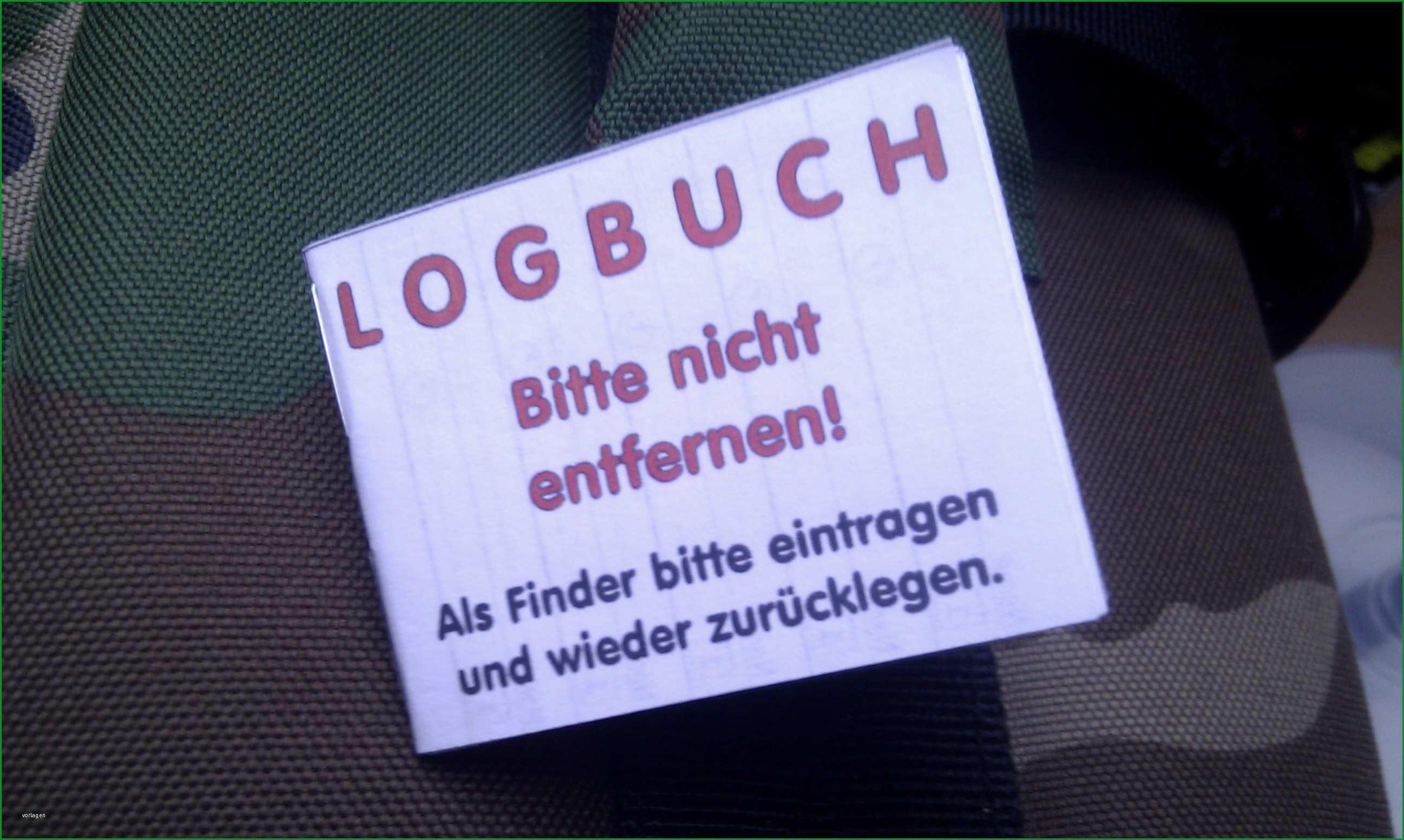 geocaching logbuch vorlage word