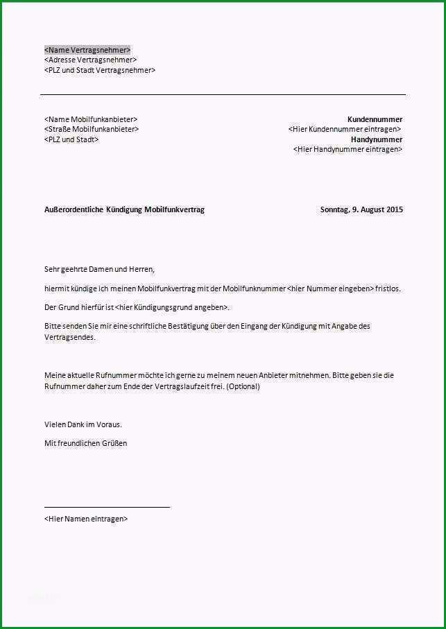 handyvertrag o2 kundigen vorlage pdf gut telekom kundigung vorlage zum ausdrucken kundigung