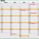 Hervorragen Kalender 2018 Zum Ausdrucken In Excel 16 Vorlagen