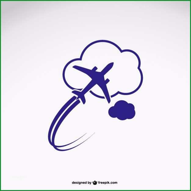 logo vorlage mit flugzeug