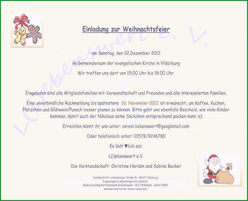 lustige einladung zur weihnachtsfeier vorlage