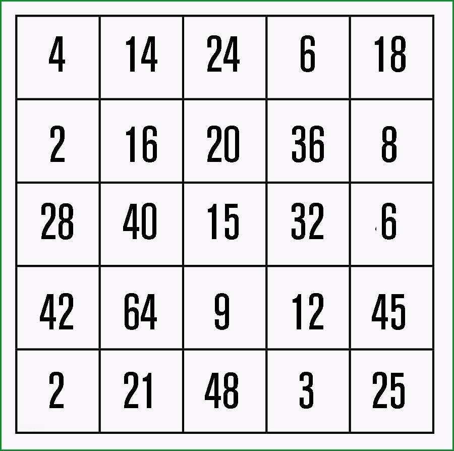 mathe bingo beispiel