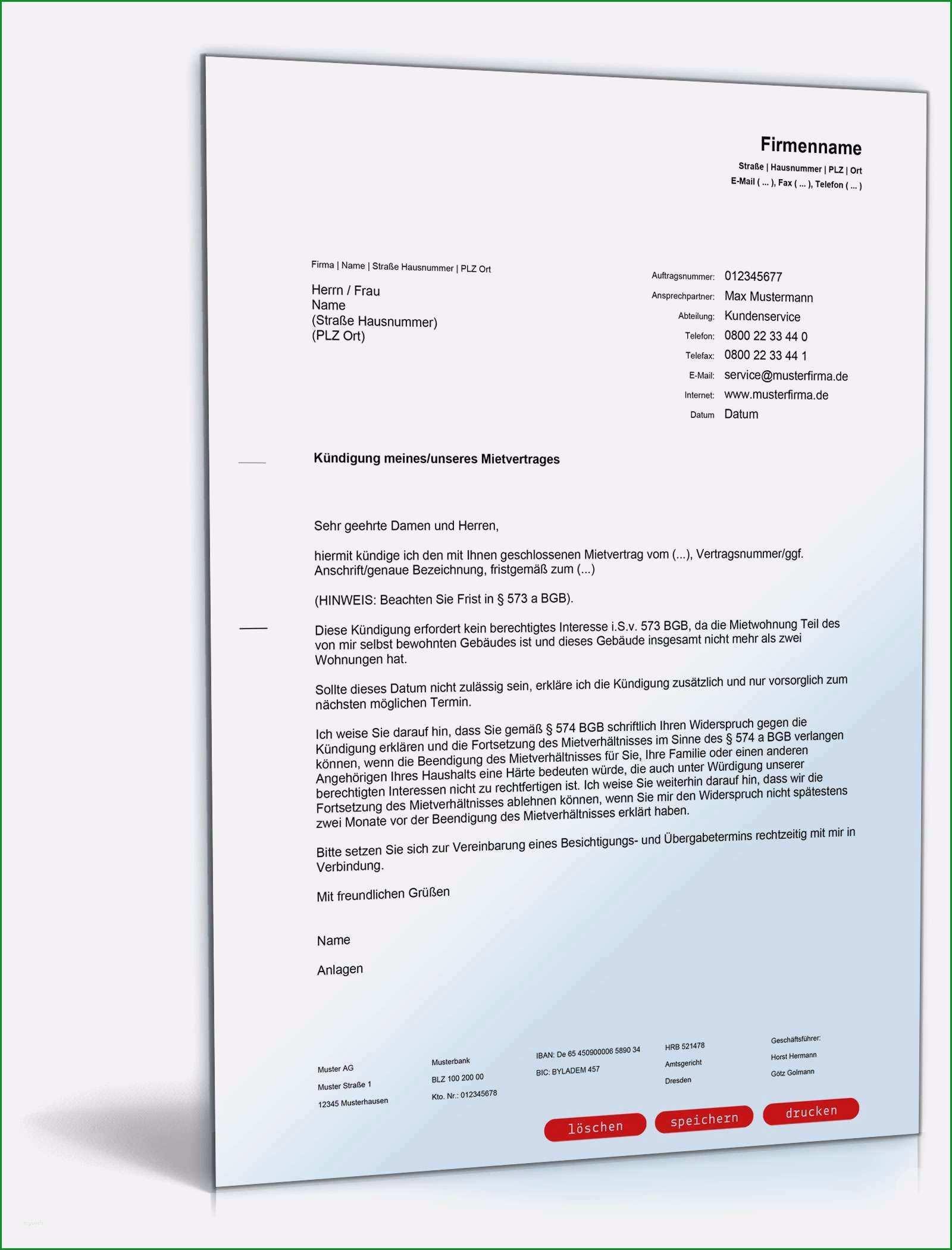 mietburgschaft vorlage kostenlos gut kundigung mietwohnung muster ve97