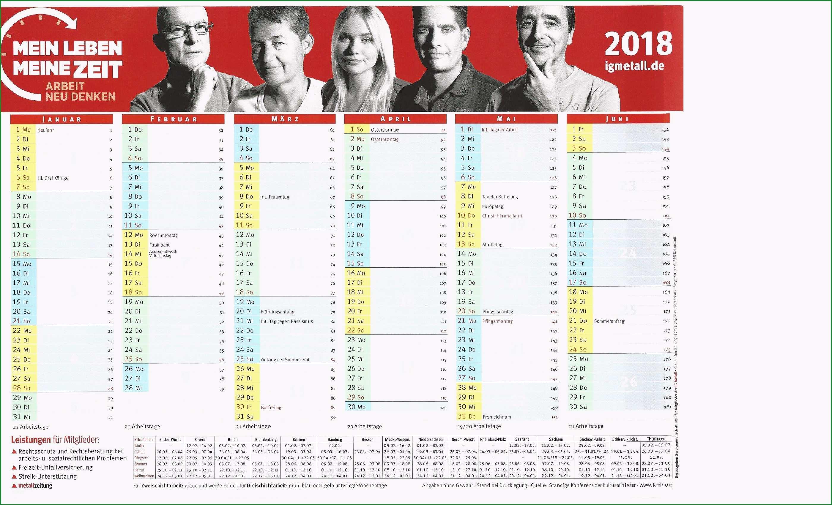 schichtkalender 2018