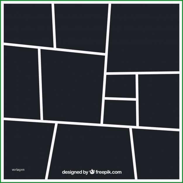 schwarze fotorahmen collage vorlage