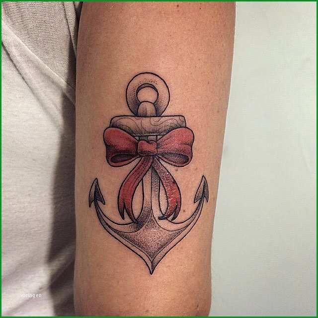 tattoo anker mit schleife