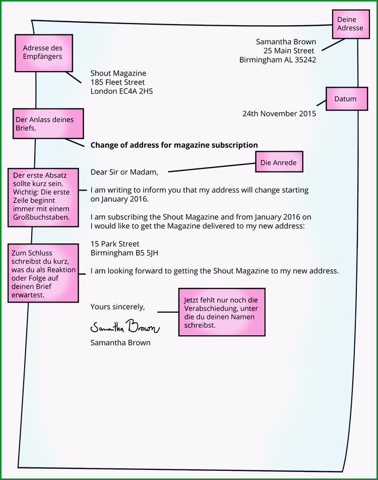 einen formalen brief verfassen