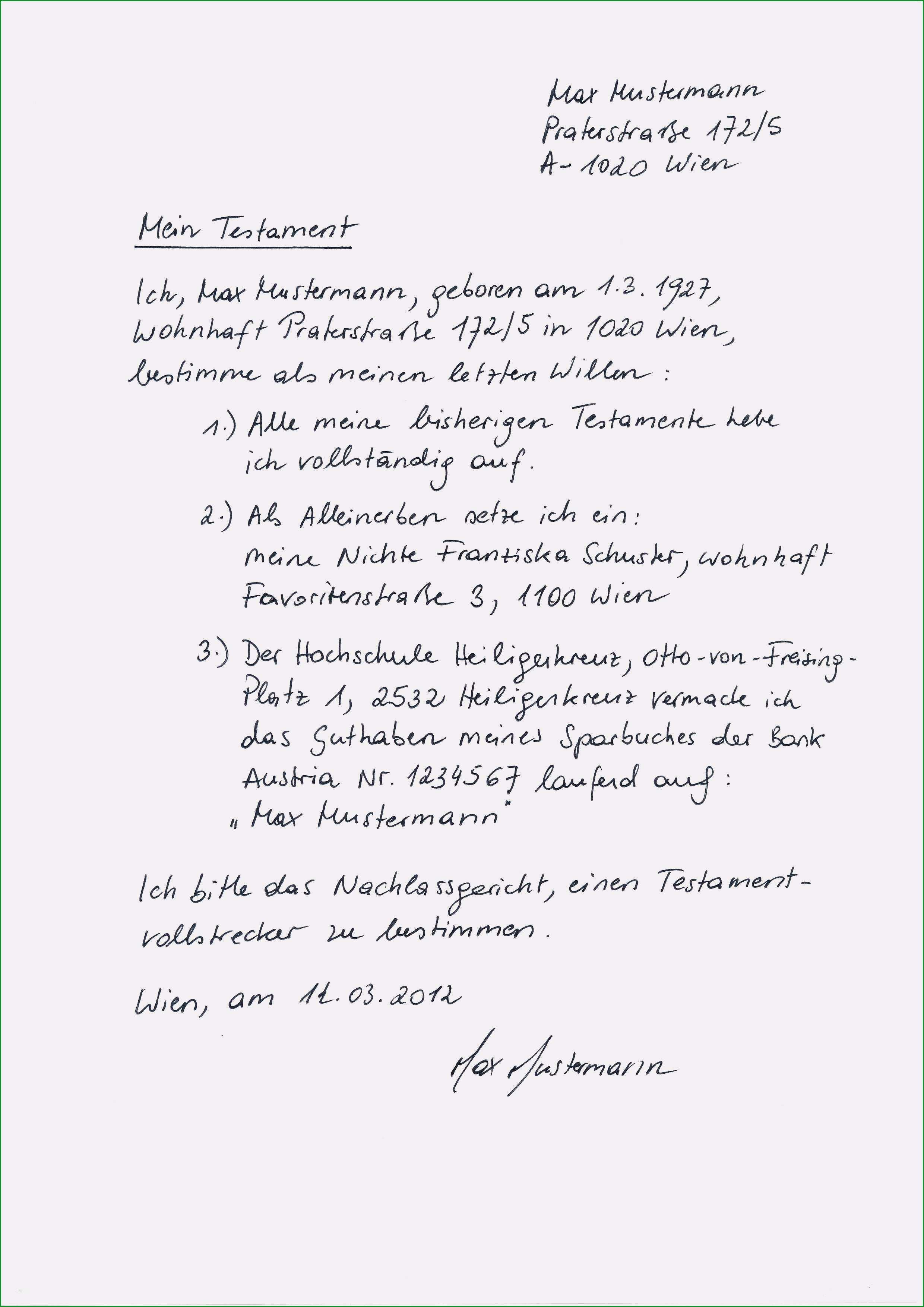 vorlage testament pdf gut vorlage testament handschriftlich beste testament