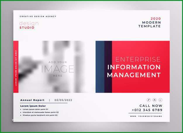 broschure prasentation design vorlage in roter farbe