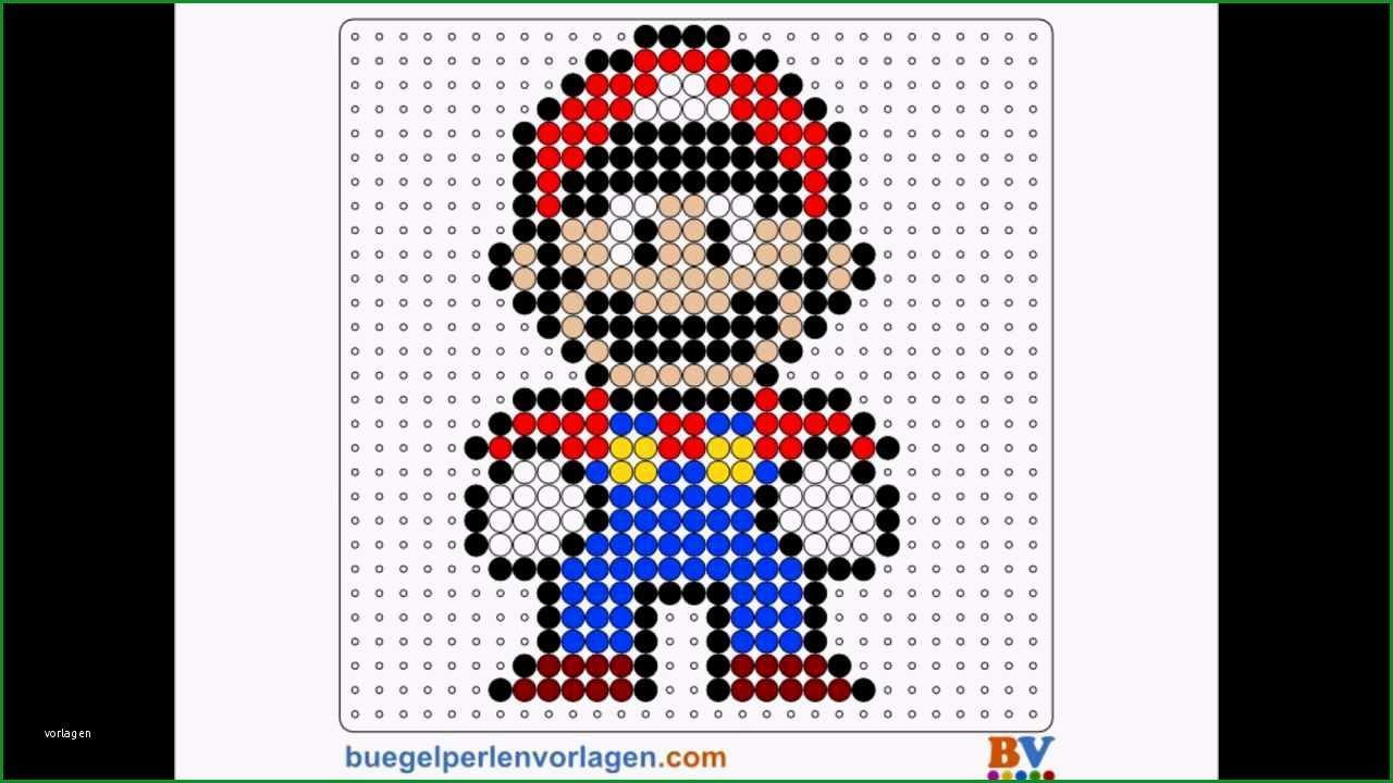 Phänomenal Bügelperlen Vorlage Anleitung 1 Super Mario Bros