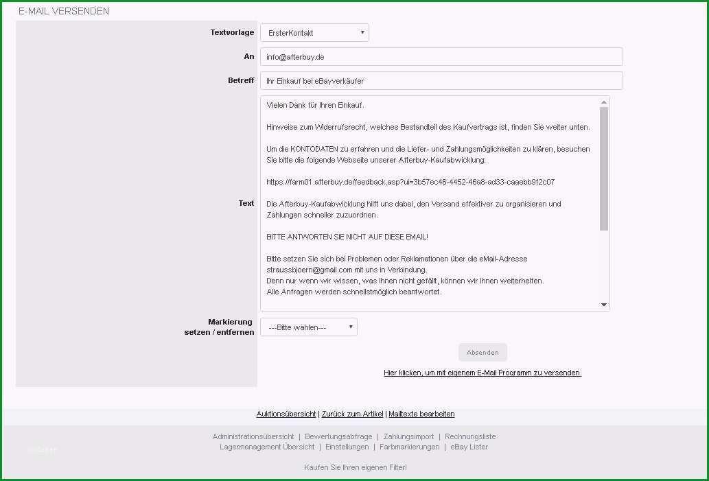 eMail Texte und Vorlagen
