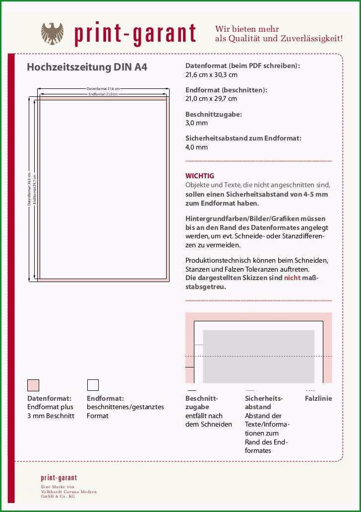 Phänomenal Hochzeitszeitung Drucken Vorlage Erstellen