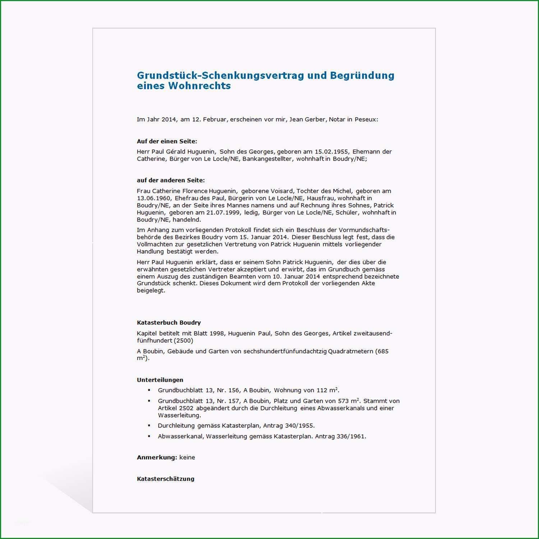 muster grundstueck schenkungsvertrag