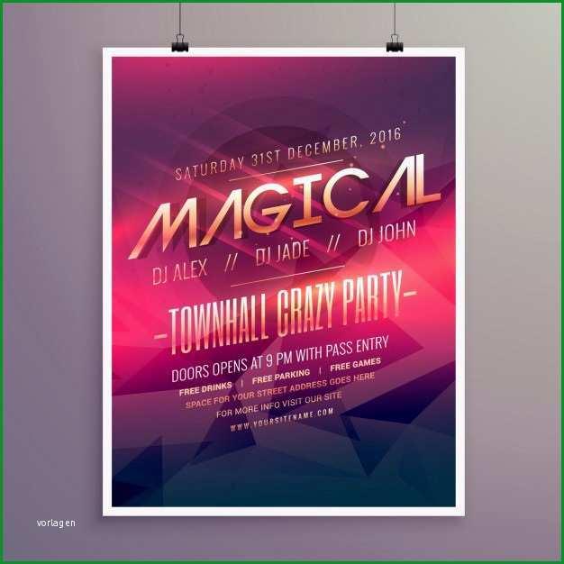 party flyer einladung vorlage mit lila farbe thema