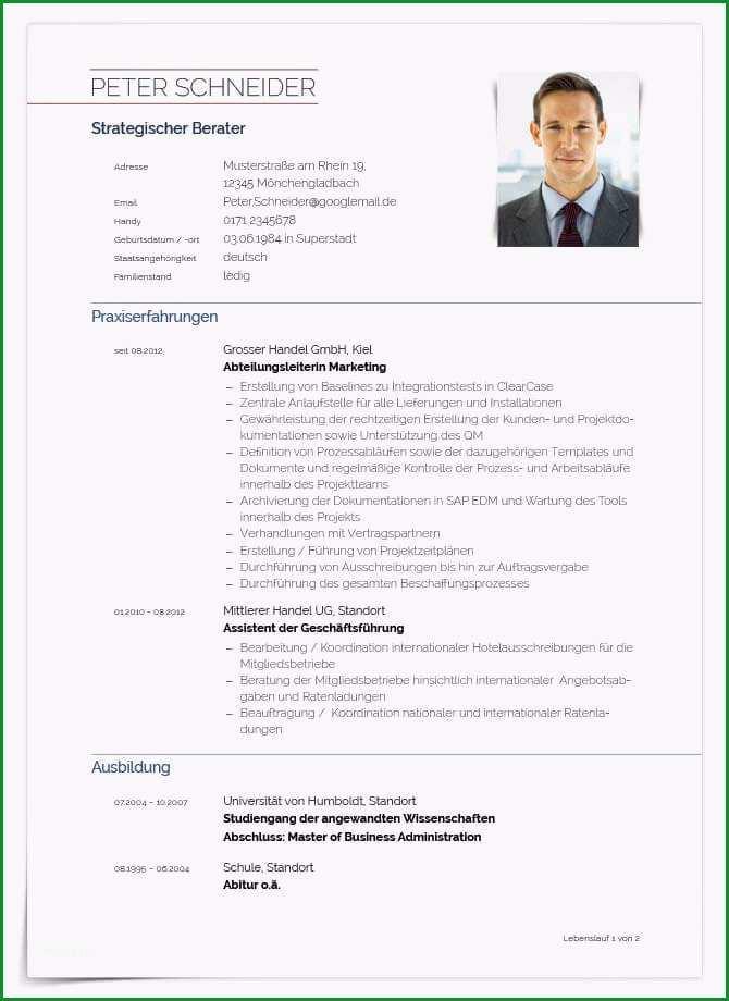 Phänomenal Professionelle Bewerbung Vorlage – Vorlagen Komplett