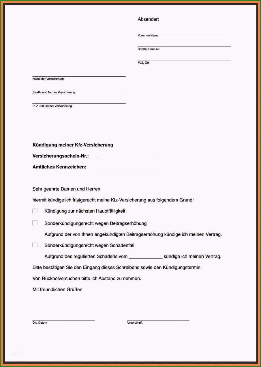 schreiben versicherung schadensregulierung vorlage hubsch 8 kundigung schreiben versicherung