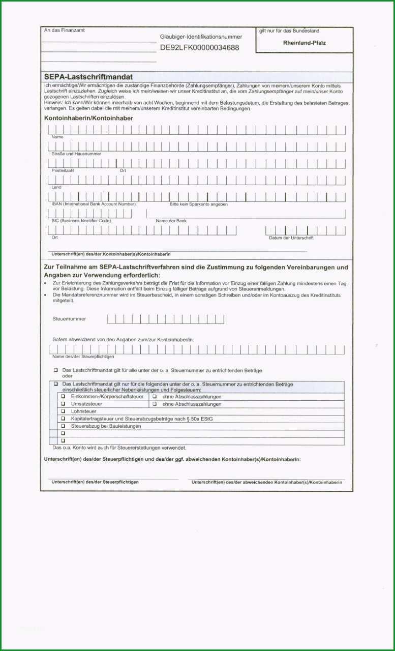 Phänomenal Sepa Lastschriftmandat Vorlage Word – Kostenlos Vorlagen