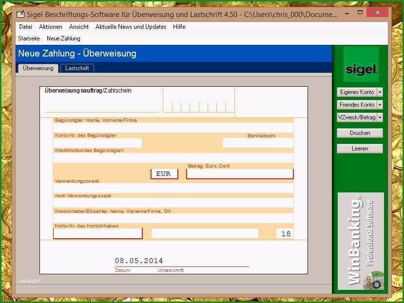 sepa uberweisung vorlage word beschriftungs software fur uberweisung und lastschrift