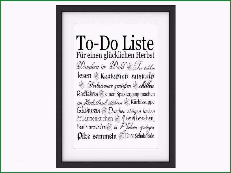 Shabby Vintage Kunstdruck TO DO LISTE HERBST Poster Buettenpapier Landhaus Deko