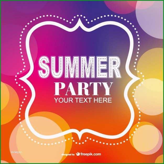 Phänomenal sommerfest Plakat Einladung Vorlage