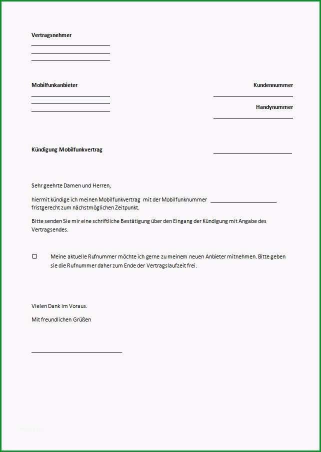 telekom handyvertrag kundigen vorlage pdf