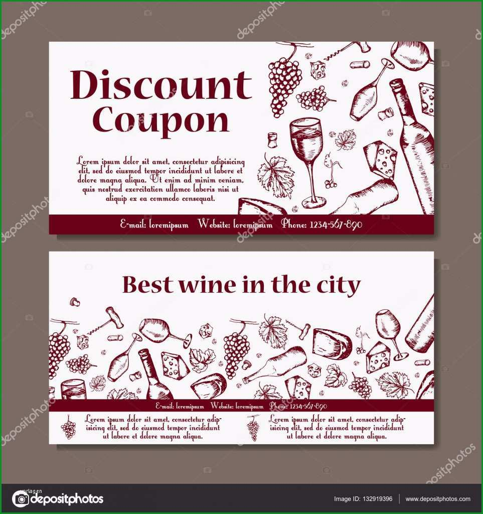 stock illustration vector coupon template for beverages
