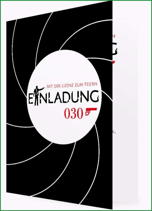 Vorlage fuer Einladung zum 30 Geburtstag Agent 030 1647