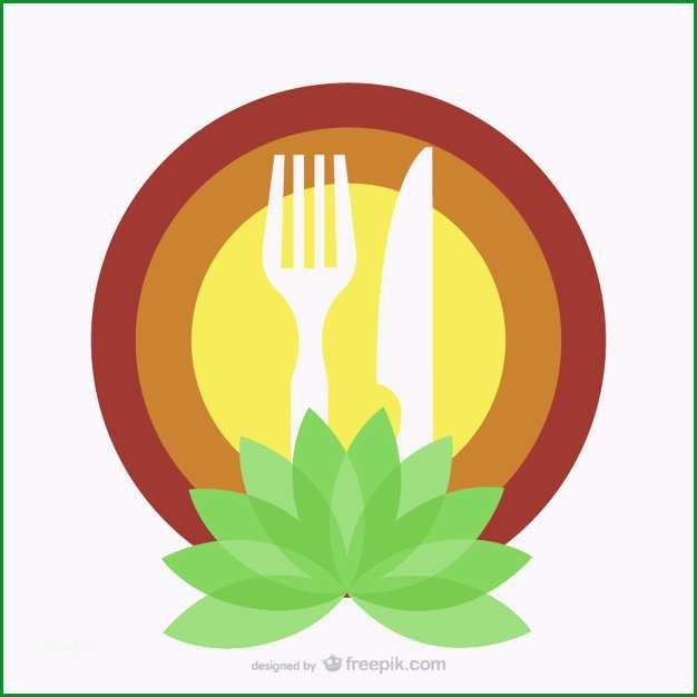 bio food restaurant logo vorlage