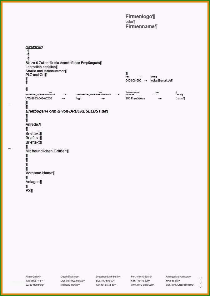 briefkopf muster kostenlos geschaftsbrief vorlage word kostenlos geschaftsbrief