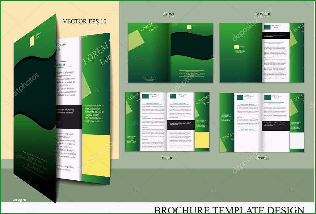 stock illustration brochure design template