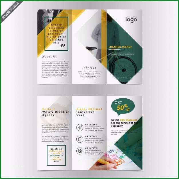 dreifachgefaltete broschure vektor vorlage design