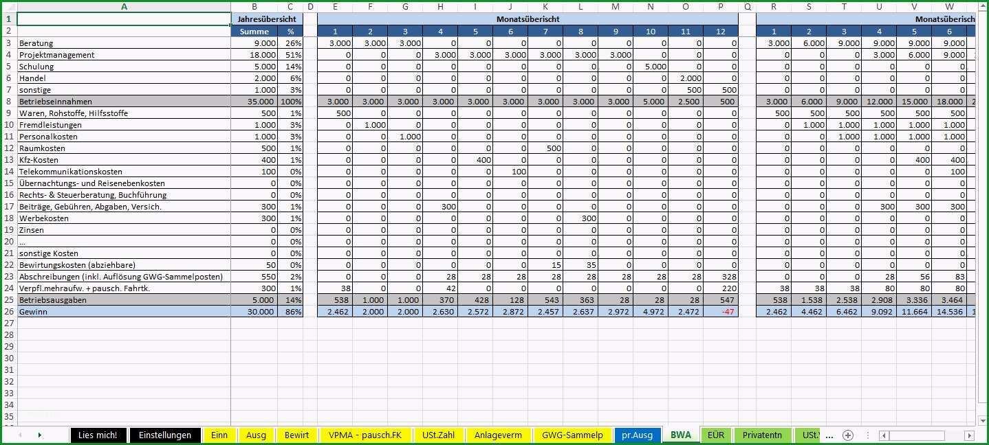 einnahmen ausgaben rechnung vorlage kleinunternehmer excel vorlage einnahmenuberschussrechnung eur 2015