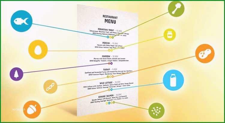 allergenkennzeichnung gastronomie vorlage