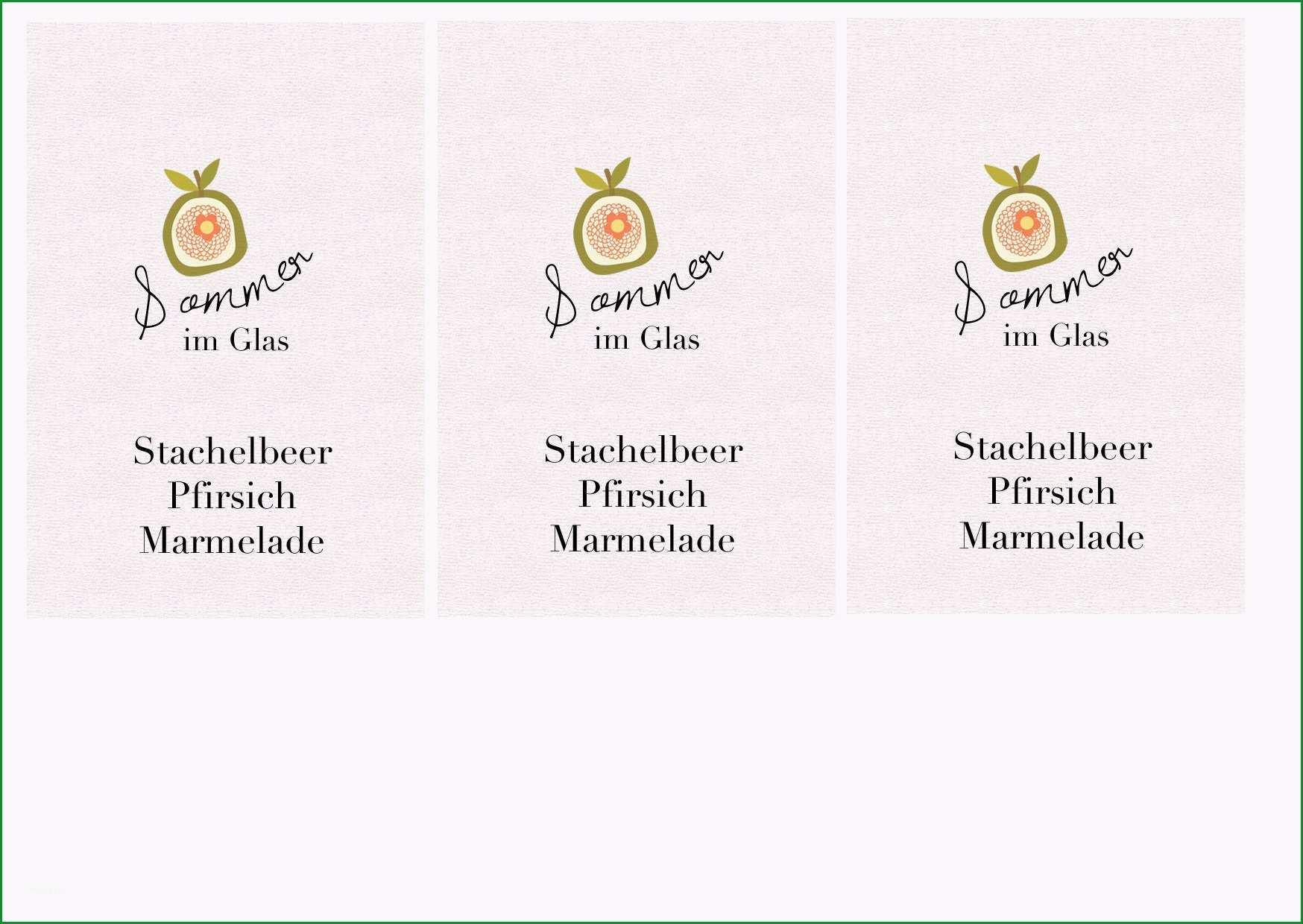etiketten marmelade vorlage word