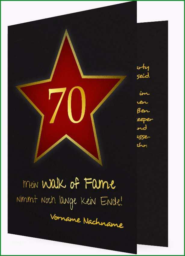 Geburtstagseinladung zum 70 Walk of fame 1087