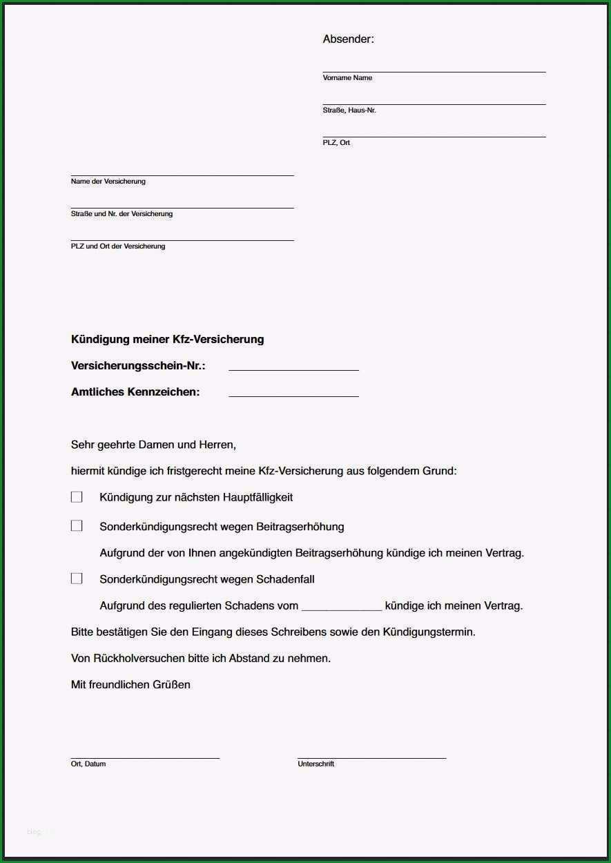kfz versicherung kundigen vorlage kostenlos hubsch kundigungsschreiben an autoversicherung was muss rein