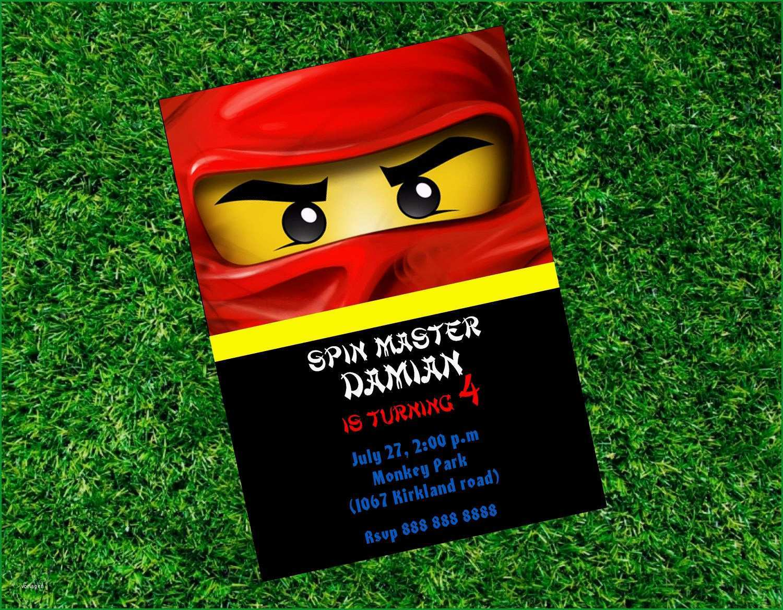 ninjago einladungskarten vorlage