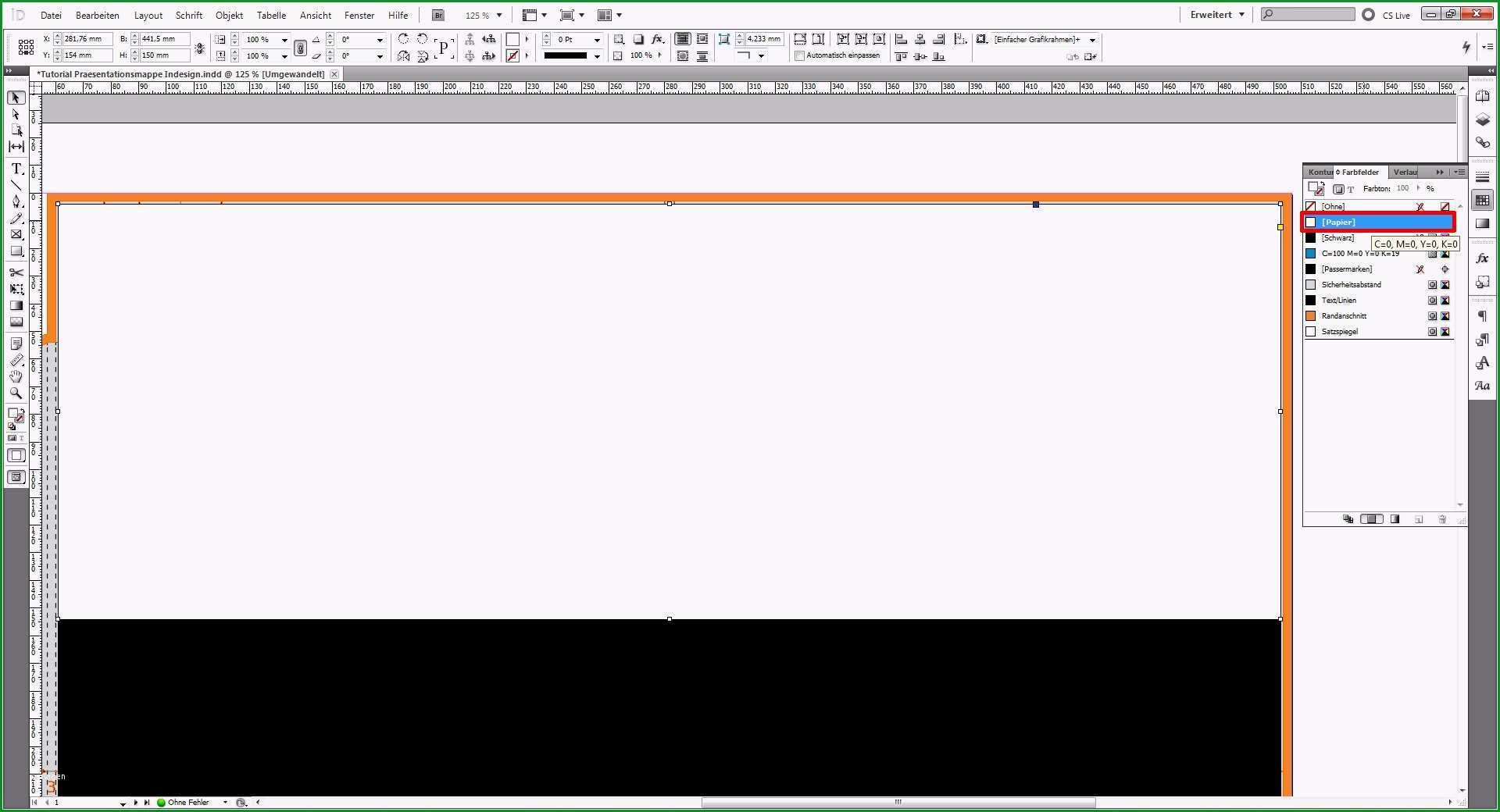 prasentationsmappe vorlage indesign indesign uberdrucken volltonfarbe und relieflack 2